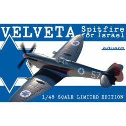 eduard 11111 Velveta / Spitfire Mk.IXe for Israel Kit en plástico para montar y pintar en edición limitada. Incluye piezas en resina, fotograbados y mascarillas. Hoja de calcas con 6 decoraciones