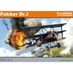 eduard 7039 Fokker Dr.I profiPACK Kit en plástico para montar y pintar de la serie profiPACK de Eduard. Incluye piezas en fotograbado y mascarillas. Hoja de calcas con 5 decoraciones