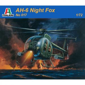 italeri 0017 AH-6 Night Fox Kit en plástico para montar y pintar. Hoja de calcas con 2 decoraciones