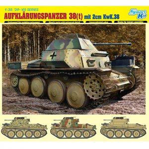DRAGON 6890 Aufklarungspanzer 38(t) mit 2cm Kw.K.38 Kit en plástico para montar y pintar. Incluye piezas en fotograbado y cadenas por eslabones individuales.