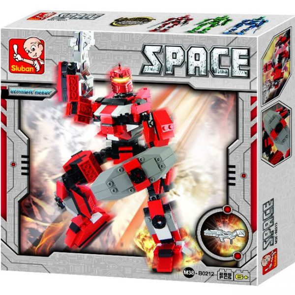 Sluban B0212 Space Ultimate Robot Hepaestus Juego de construcción por bloques de plástico compatibles con LegoSluban B0212 Space Ultimate Robot Hepaestus Juego de construcción por bloques de plástico compatibles con Lego y otras marcas. y otras marcas.