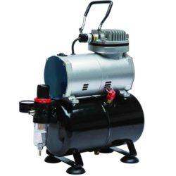 dismoer 26046 Compresor con Calderín y Manómetro D-80, Tipo pistón, sin aceite, parada automática, válvula de seguridad, regulador de presion y filtro de aire.