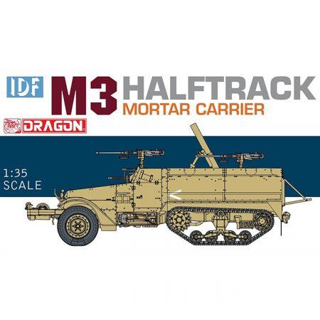 dragon 3597 IDF M3 Halftrack Mortar Carrier Kit en plástico para montar y pintar.