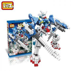 Loz 9352 Irobots Gundam Exia 560 pcs Construye y colecciona con los bloques de Loz, tus personajes favoritos.