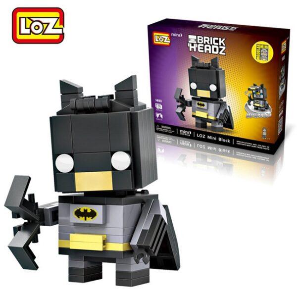 Loz 1403 Batman Brick Headz 157 pcs Construye y colecciona con los bloques de Loz, tus personajes favoritos.