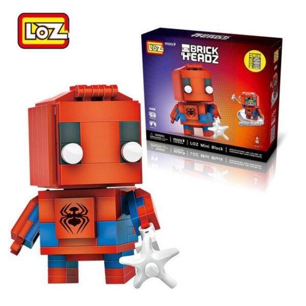 Loz 1408 Spiderman Brick Headz 145 pcs Construye y colecciona con los bloques de Loz, tus personajes favoritos.