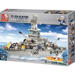Sluban B-0126 Army Cruiser Juego de construcción por bloques de plástico compatibles con Lego y otras marcas.