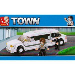Sluban B0323 Town Limousine Juego de construcción por bloques de plástico compatibles con Lego y otras marcas.