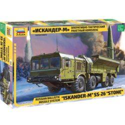 zvezda 5028 Russian ISKANDER-M SS-26 Stone Russian Ballistic Missile System Kit en plástico para montar y pintar.