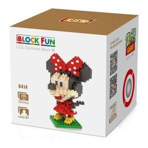 Loz 9414 Minnie Mouse 280pcs Construye y colecciona con los bloques de Loz, tus personajes favoritos.