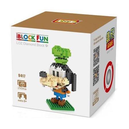 Loz 9417 Goofy 250pcs Construye y colecciona con los bloques de Loz, tus personajes favoritos.