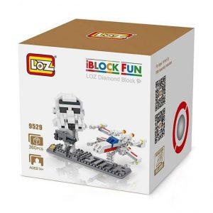 Loz 9529 Star Wars Storm Trooper & X-Wing Fighter 360pcs Construye y colecciona con los bloques de Loz, tus personajes favoritos.