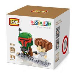Loz 9531 Star Wars Boba Fett & Leia Organa 400pcs Construye y colecciona con los bloques de Loz, tus personajes favoritos.