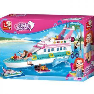 Sluban B0609 Vacation Yacht Juego de construcción por bloques de plástico compatibles con Lego y otras marcas. Una forma fácil y divertida de construir tus primeros modelos y favorecer el desarrollo e imaginación de niño.
