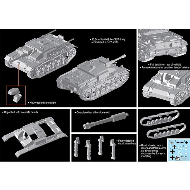 dragon 7561 10.5cm StuH.42 Ausf.E/F Kit en plástico para montar y pintar.