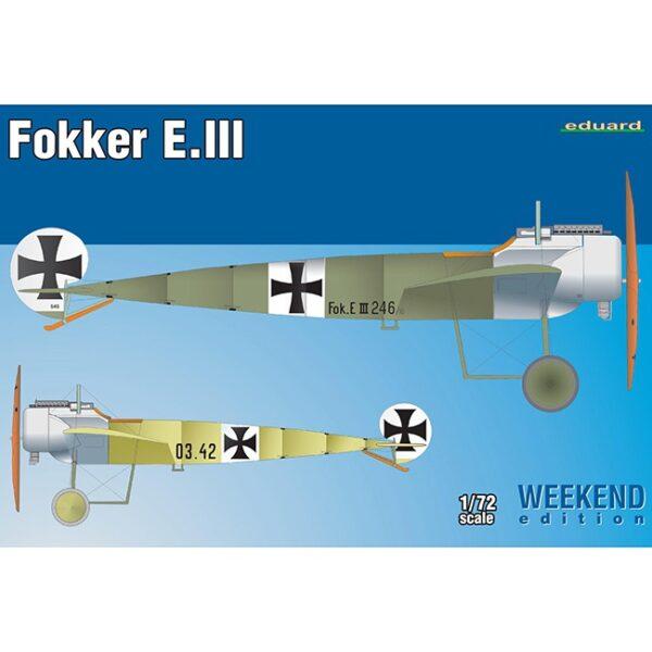 eduard 7444 Fokker E.III Weekend Edition Kit en plástico para montar y pintar. Hoja de calcas con 2 decoraciones.