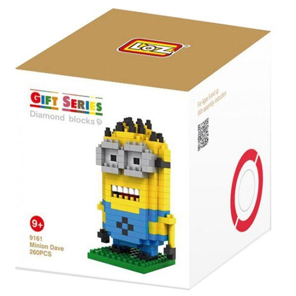 Loz 9161 Minion Dave 260pcs Construye y colecciona con los bloques de Loz, tus personajes favoritos.