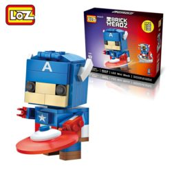 loz 1401 Capitan America Brick Headz 142pcs Construye y colecciona con los bloques de Loz, tus personajes favoritos.