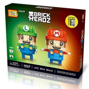Loz 1706 Super Mario & Luigi Brick Headz 384pcs Construye y colecciona con los bloques de Loz, tus personajes favoritos.