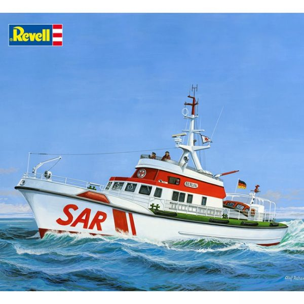 revell 05211 Search & Rescue Vessel BERLIN 1/72 Kit en plástico para montar y pintar.