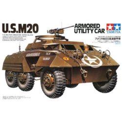 tamiya 35234 U.S. M20 Armored Utility Car Kit en plástico par amontar y pintar. Incluye figura de conductor y de comandante.