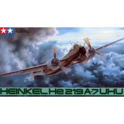 tamiya 61057 Heinkel He219 A-7 UHU kit en plástico para montar y pintar. Incluye figura del piloto. Hoja de calcas con varias opciones dtamiya 61057 Heinkel He219 A-7 UHU kit en plástico para montar y pintar. Incluye figura del piloto. Hoja de calcas con varias opciones de decoración.e decoración.