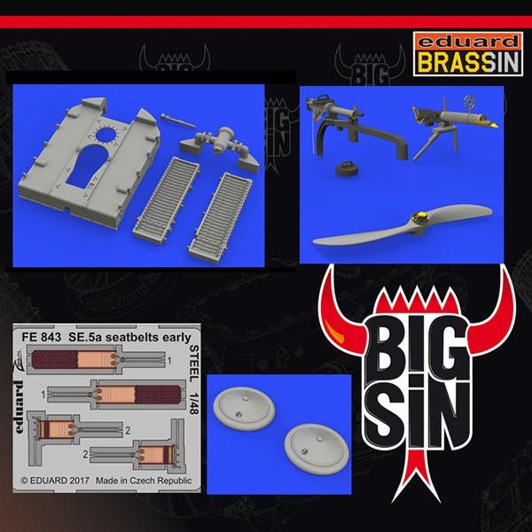 BigSin 64841 SE.5a Wolseley Viper Essential Esta caja de BIG SIN de Eduard incluye 5 referencias de la serie Brassin