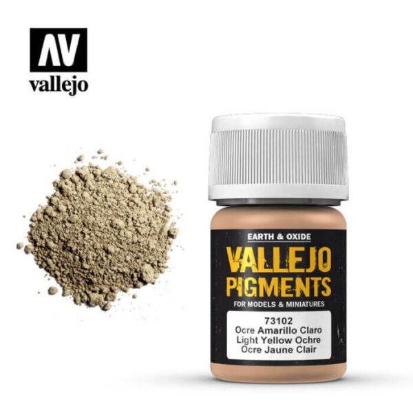 acrylicos vallejo 73102 Pigmento Vallejo Ocre Amarillo Claro 35ml Los pigmentos de Acrylicos Vallejo son una selección de tierras naturales y pigmentos sintéticos elegidos en función de su permanencia y resistencia a la luz.