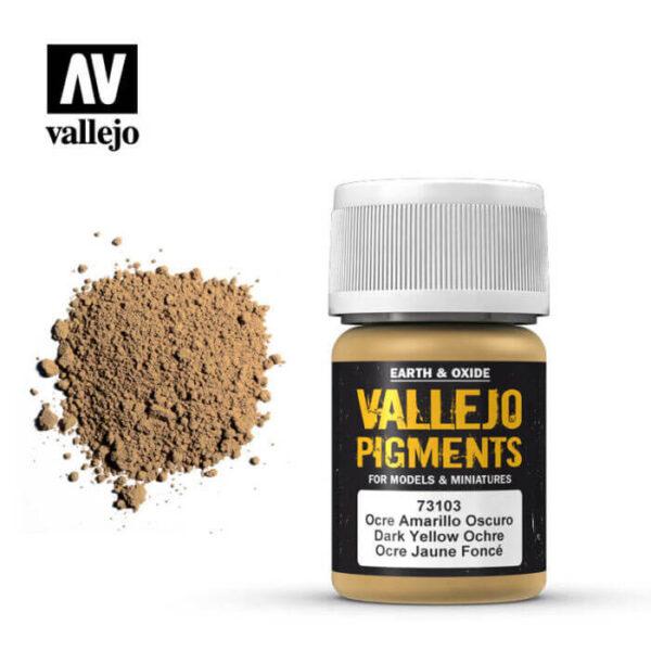 acrylicos vallejo 73103 Pigmento Vallejo Ocre Amarillo Oscuro 35ml Los pigmentos de Acrylicos Vallejo son una selección de tierras naturales y pigmentos sintéticos elegidos en función de su permanencia y resistencia a la luz.