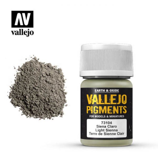 acrylicos vallejo 73104 Pigmento Vallejo Siena Claro 35ml Los pigmentos de Acrylicos Vallejo son una selección de tierras naturales y pigmentos sintéticos elegidos en función de su permanencia y resistencia a la luz.