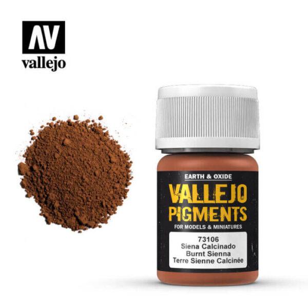 acrylicos vallejo 73106 Pigmento Vallejo Siena Calcinado 35ml Los pigmentos de Acrylicos Vallejo son una selección de tierras naturales y pigmentos sintéticos elegidos en función de su permanencia y resistencia a la luz.