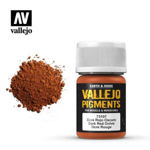 acrylicos vallejo 73107 Pigmento Vallejo Ocre Rojo Oscuro 35ml Los pigmentos de Acrylicos Vallejo son una selección de tierras naturales y pigmentos sintéticos elegidos en función de su permanencia y resistencia a la luz