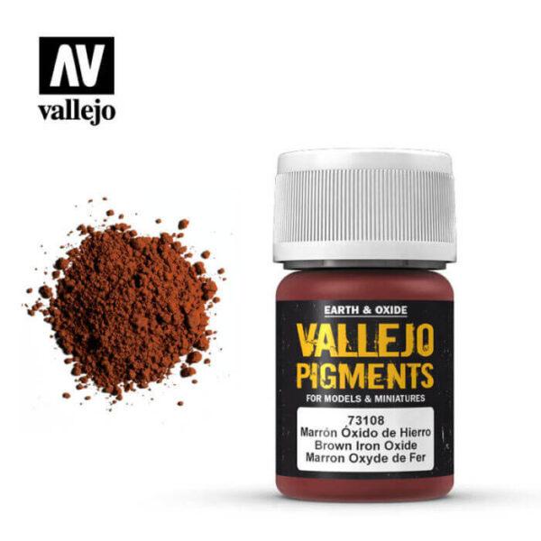 acrylicos vallejo 73108 Pigmento Vallejo Marrón Oxido de Hierro 35ml Los pigmentos de Acrylicos Vallejo son una selección de tierras naturales y pigmentos sintéticos elegidos en función de su permanencia y resistencia a la luz.