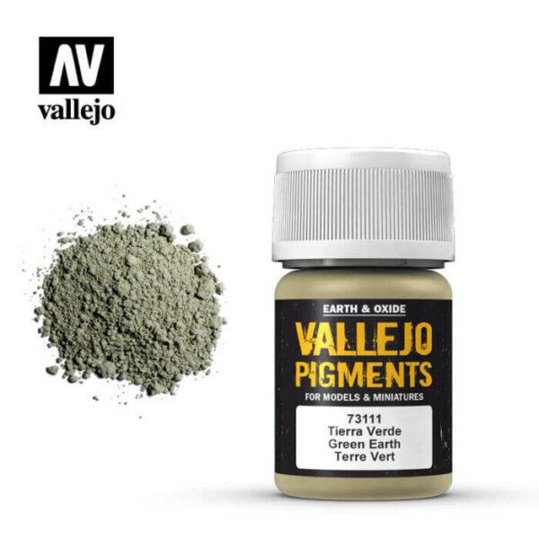 acrylicos vallejo 73111 Pigmento Vallejo Tierra Verde 35ml Los pigmentos de Acrylicos Vallejo son una selección de tierras naturales y pigmentos sintéticos elegidos en función de su permanencia y resistencia a la luz