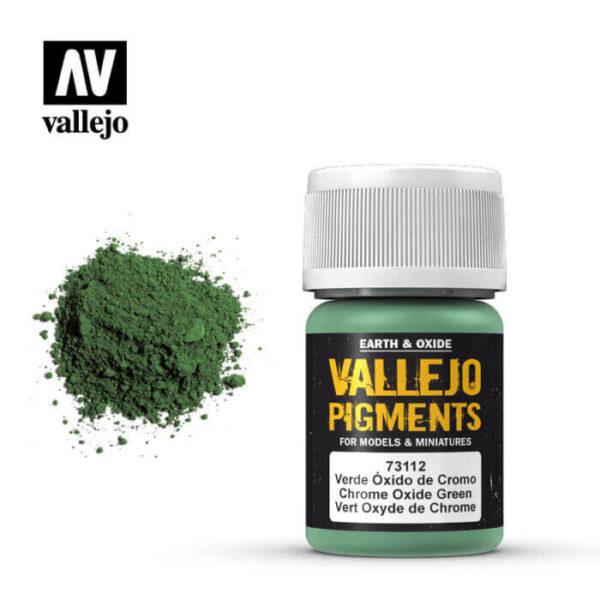 acrylicos vallejo 73112 Pigmento Vallejo Verde Oxido de Cromo 35ml Los pigmentos de Acrylicos Vallejo son una selección de tierras naturales y pigmentos sintéticos elegidos en función de su permanencia y resistencia a la luz.