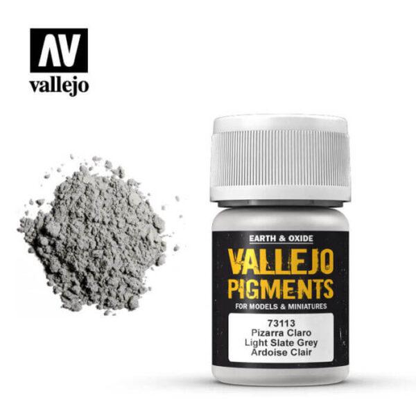 acrylicos vallejo 73113 Pigmento Vallejo Pizarra Claro 35ml Los pigmentos de Acrylicos Vallejo son una selección de tierras naturales y pigmentos sintéticos elegidos en función de su permanencia y resistencia a la luz.