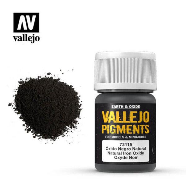 acrylicos vallejo 73115 Pigmento Vallejo Oxido Negro Natural 35ml Los pigmentos de Acrylicos Vallejo son una selección de tierras naturales y pigmentos sintéticos elegidos en función de su permanencia y resistencia a la luz.