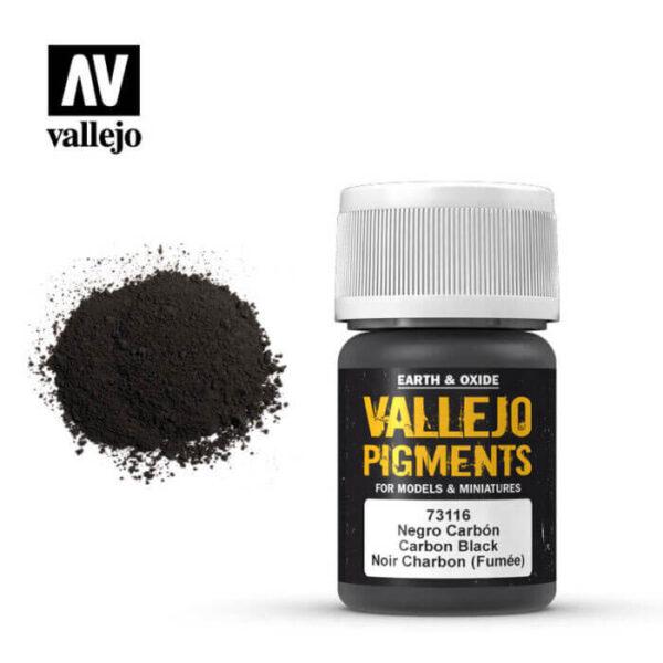acrylicos vallejo 73116 Pigmento Vallejo Negro Carbón Humo 35ml Los pigmentos de Acrylicos Vallejo son una selección de tierras naturales y pigmentos sintéticos elegidos en función de su permanencia y resistencia a la luz.