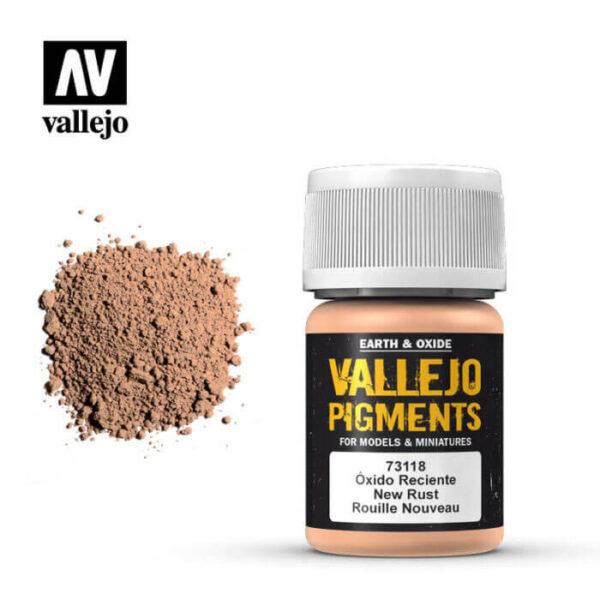acrylicos vallejo 73118 Pigmento Vallejo Oxido Reciente 35ml Los pigmentos de Acrylicos Vallejo son una selección de tierras naturales y pigmentos sintéticos elegidos en función de su permanencia y resistencia a la luz.