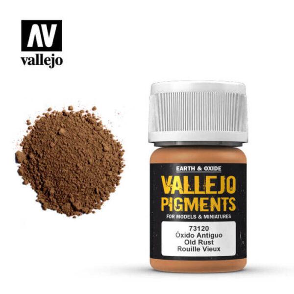acrylicos vallejo 73120 Pigmento Vallejo Oxido Antiguo 35ml Los pigmentos de Acrylicos Vallejo son una selección de tierras naturales y pigmentos sintéticos elegidos en función de su permanencia y resistencia a la luz.