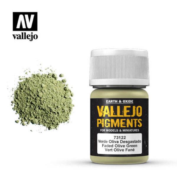 acrylicos vallejo 73122 Pigmento Vallejo Verde Oliva Desgastado 35ml Los pigmentos de Acrylicos Vallejo son una selección de tierras naturales y pigmentos sintéticos elegidos en función de su permanencia y resistencia a la luz.