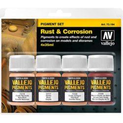 acrylicos vallejo av 73.194 Set de Pigmentos Óxido y Corrosión Estuche de pigmentos para recrear los efectos de óxido y corrosión en las maquetas, figuras y dioramas. Contiene 4 botes de 35ml.
