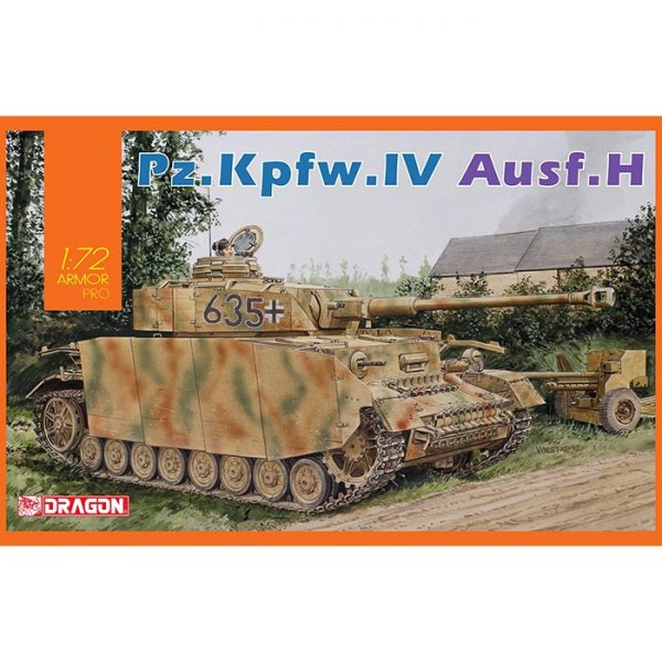 dragon 7551 Pz.Kpfw.IV Ausf.H Kit en plástico para montar y pintar.