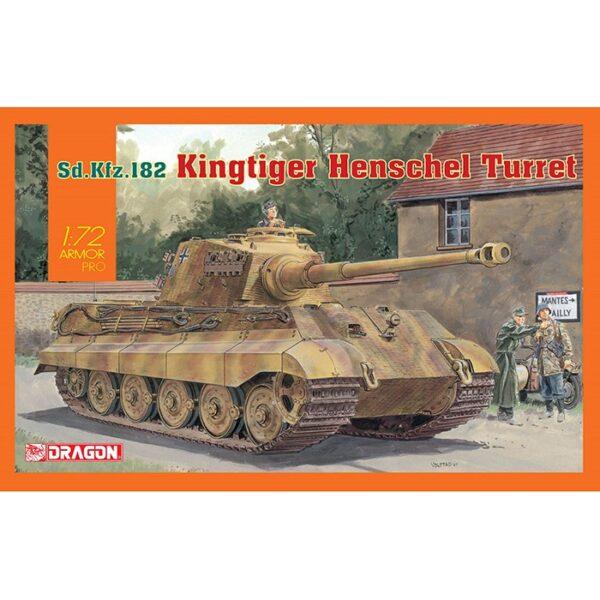dragon 7558 Sd.Kfz.182 King Tiger Henschel Turret Kit en plástico para montar y pintar. Piezas 120