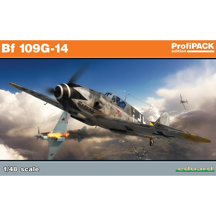 eduard 82118 Messerschmitt Bf 109G-14 profiPACK Kit en plástico para montar y pintar de la serie profiPACK de Eduard.