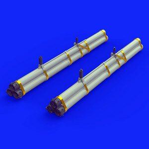 eduard brassin 632089 Bazooka rocket launchers for P-47 1/32 Kit en resina y fotograbado de la serie Brassin de Eduard