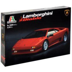 italeri 3685 Lamborghini Diablo 1/24 Kit en plástico para montar y pintar una réplica en maqueta a escala del mítico Lamborghini Diablo. Longitud 186mm
