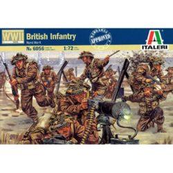 italeri 6056 British Infantry World War II Kit en plástico para montar y pintar. Incluye 50 figuras de soldados británicos en Europa durante la 2ªGM, en varias poses.
