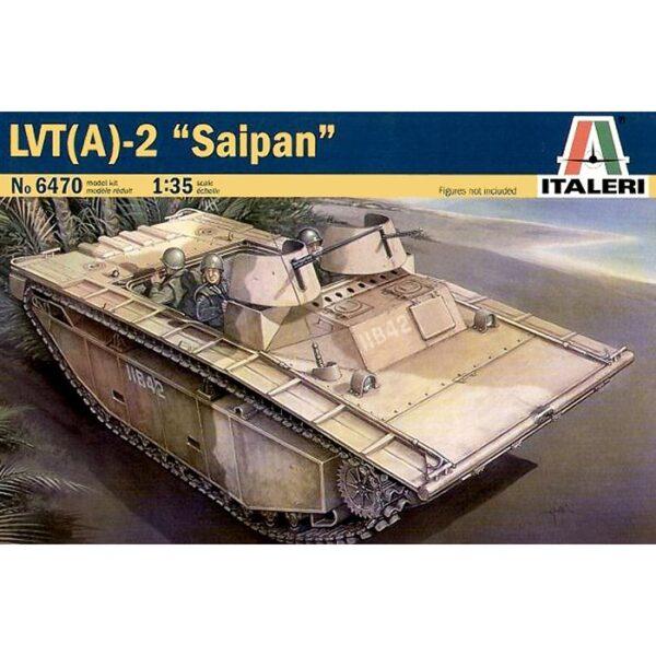 italeri 6470 LVT - (A)2 SAIPAN Kit en plástico para montar y pintar. Hoja de calcas con dos decoraciones de USA en el pacífico. Longitud 227 mm