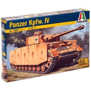 italeri 7007 German PANZER Pz.Kpfw. IV Ausf.H Kit en plástico para montar y pintar. Cadenas por tramo y eslabón. Incluye 1'2 figuras.